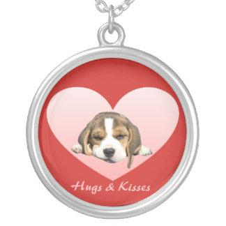 Beagle Heart Hugs and Kisses Necklace