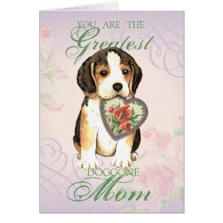Beagle Heart Mom Card