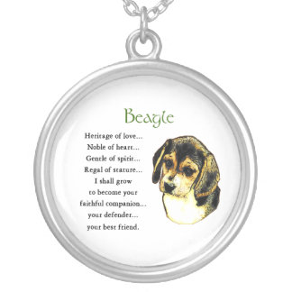 Beagle Heritage of Love Silver Plated Necklace