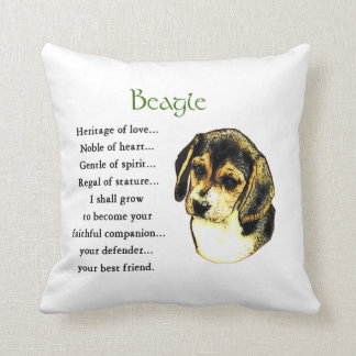 Beagle Heritage of Love Throw Pillow