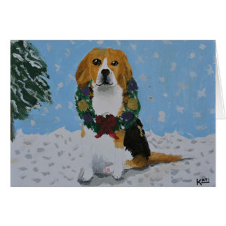 Beagle Holiday Card