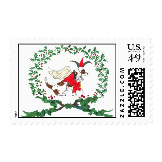 Beagle Holiday Postage Stamp