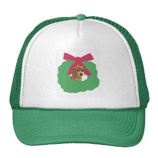 Beagle Holiday Wreath Trucker Hat