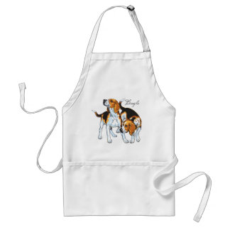 beagle hound adult apron