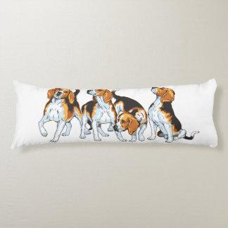beagle hound body pillow