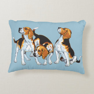 beagle hound decorative pillow