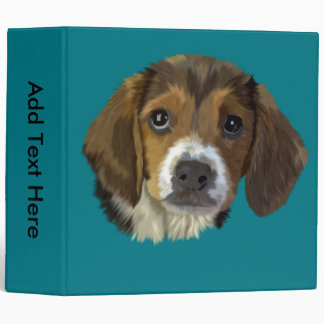 Beagle Hound Dog Portrait Print 3 Ring Binder