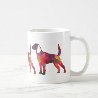 Beagle Hound Dog Silhouette Designs Coffee Mug