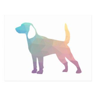 Beagle Hound Dog Silhouette Designs Postcard