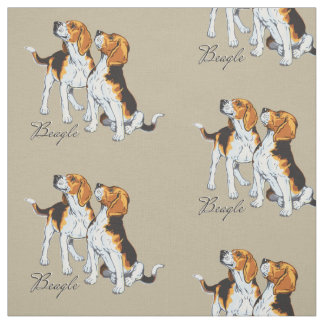 beagle hound fabric