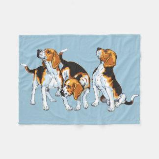 beagle hound fleece blanket