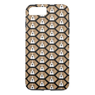Beagle Hound Honeycomb Pattern iPhone 7 Plus Case