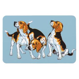 beagle hound rectangle magnet