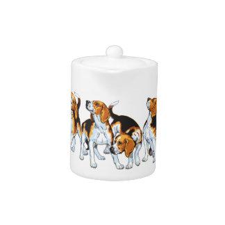 beagle hound teapot