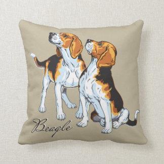 beagle hound throw pillow