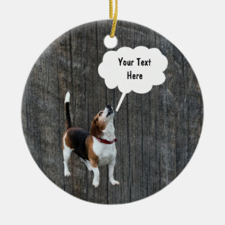 Beagle Howling Customizable Dog Ornament