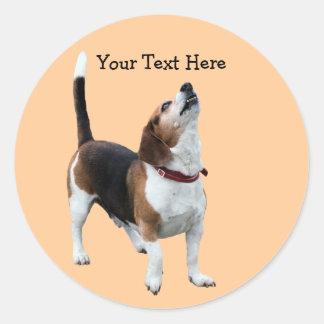 Beagle Howling Cute Dog Sticker