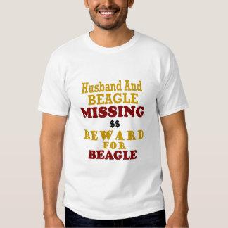 Beagle & Husband Missing Reward For Beagle T-Shirt