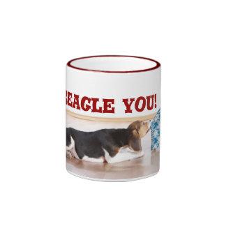 ¡Beagle I usted! Taza