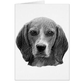 Beagle - imagen estilizada felicitación
