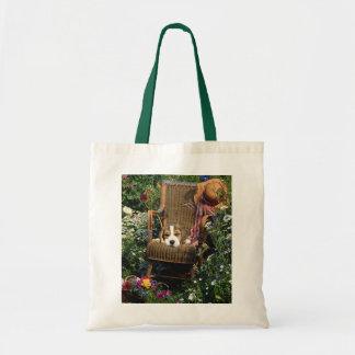 Beagle In Garden Chair Tote Bag