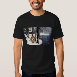 Beagle In Snow Unisex T-Shirt