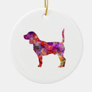 Beagle in watercolor 2 ceramic ornament