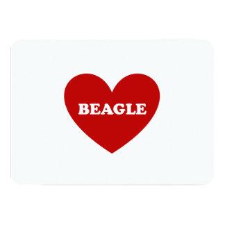 "Beagle Invitación 5"" X 7"""