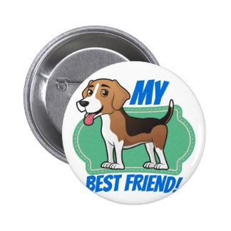 Beagle is my Best Friend 2 Inch Round Button