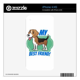 Beagle is my Best Friend iPhone 4 Decals