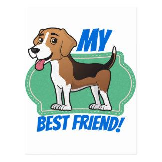 Beagle is my Best Friend Postcard