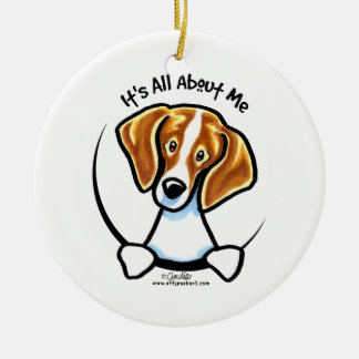 Beagle Its All About Me IAAM Ceramic Ornament