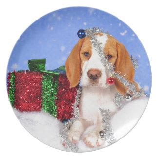 Beagle Jingle Melamine Plate