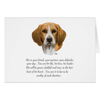 Beagle Keepsake Card
