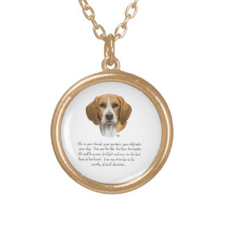 Beagle Keepsake Gold Plated Necklace