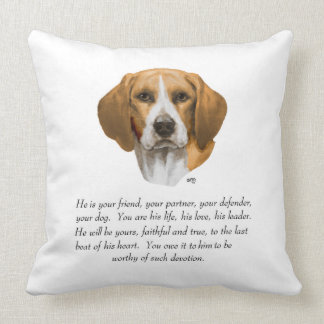 Beagle Keepsake MALE Throw Pillow