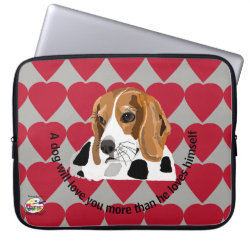 Neoprene Laptop Sleeve 15' with Beagle Phone Cases design