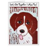Beagle Let's Get Together. I Miss You! Card