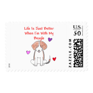 Beagle Life Is Just Better Postage