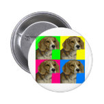 Beagle Light Bright Primary Collage Buttons