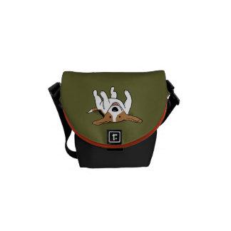 Beagle lindo - color de encargo bolsas de mensajeria