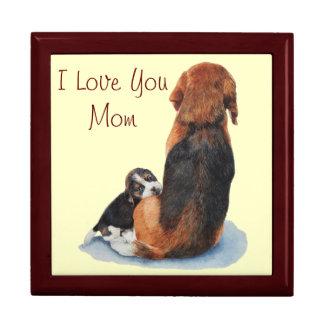 Beagle lindo del perrito con arte del realista del caja de regalo