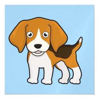 Beagle lindo invitaciones magnéticas