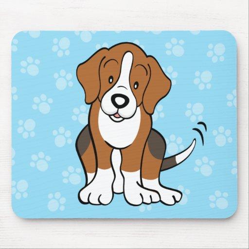 Beagle lindo Mousepad del perro del dibujo animado | Zazzle
