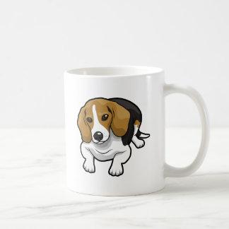 Beagle lindo taza de café