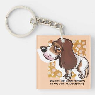 Beagle Llavero Cuadrado Acrílico A Una Cara
