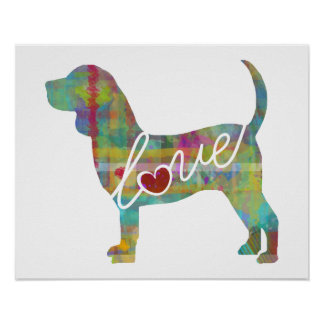 Beagle Love: A Modern Watercolor Print
