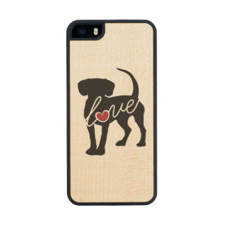 Beagle Love Carved® Maple iPhone 5 Case