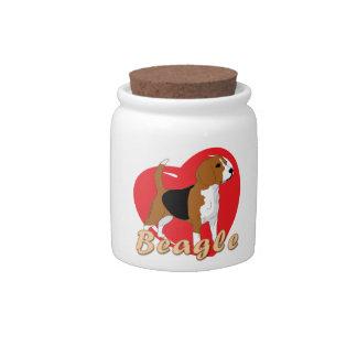 Beagle Love Heart Candy Dishes