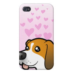 Case Savvy iPhone 4 Matte Finish Case with Beagle Phone Cases design